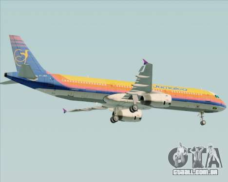 Airbus A321-200 Air Jamaica para GTA San Andreas vista inferior
