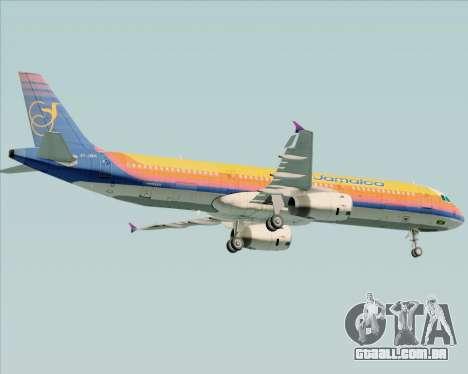 Airbus A321-200 Air Jamaica para GTA San Andreas vista inferior