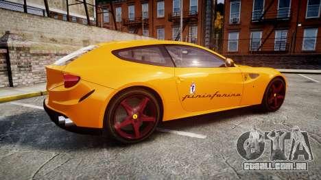 Ferrari FF 2012 Pininfarina Yellow para GTA 4 esquerda vista