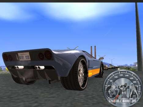 Clássico metal velocímetro para GTA San Andreas segunda tela