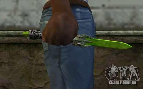 Glass Dagger para GTA San Andreas terceira tela