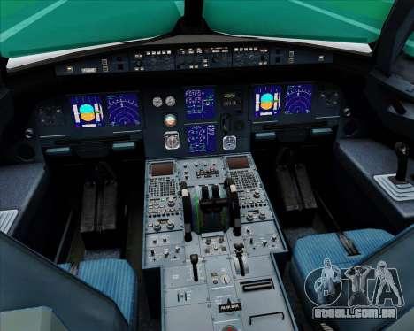 Airbus A321-200 Saudi Arabian Airlines para GTA San Andreas interior