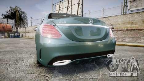 Mercedes-Benz C250 para GTA 4 traseira esquerda vista