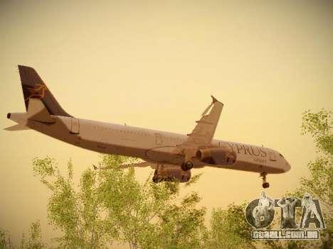 Airbus A321-232 Cyprus Airways para GTA San Andreas vista interior