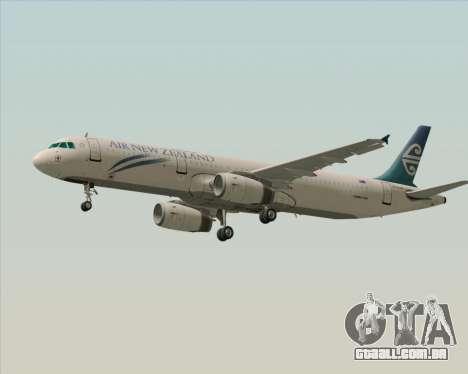 Airbus A321-200 Air New Zealand para vista lateral GTA San Andreas