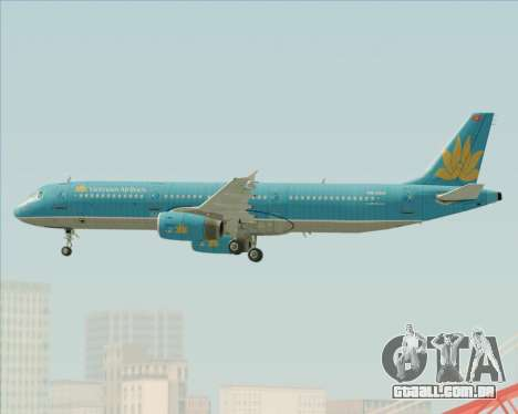 Airbus A321-200 Vietnam Airlines para o motor de GTA San Andreas