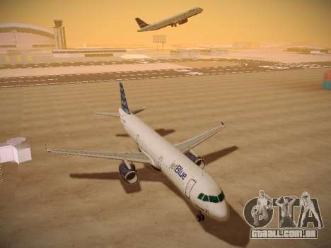 Airbus A321-232 jetBlue Airways para GTA San Andreas vista interior