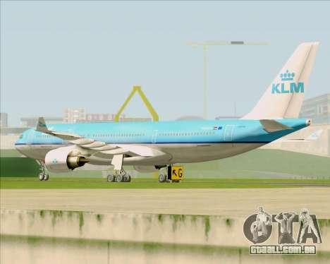 Airbus A330-200 KLM - Royal Dutch Airlines para GTA San Andreas vista traseira