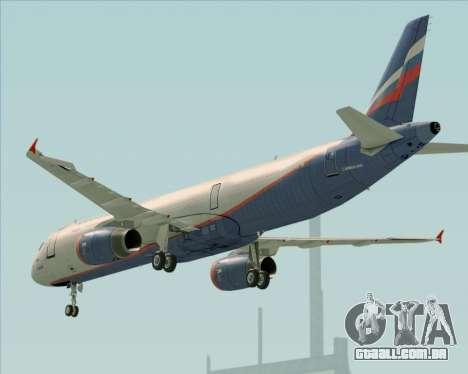 Airbus A321-200 Aeroflot - Russian Airlines para o motor de GTA San Andreas