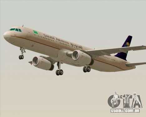 Airbus A321-200 Saudi Arabian Airlines para GTA San Andreas esquerda vista