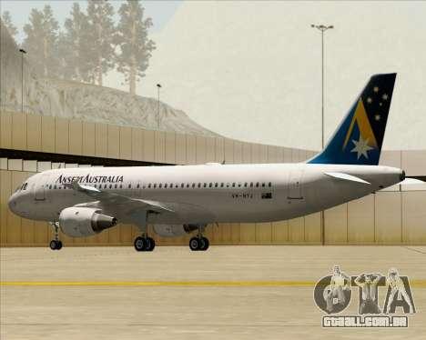 Airbus A320-200 Ansett Australia para as rodas de GTA San Andreas