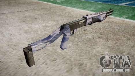 Ружье Franchi SPAS-12 Blue Tiger para GTA 4 segundo screenshot