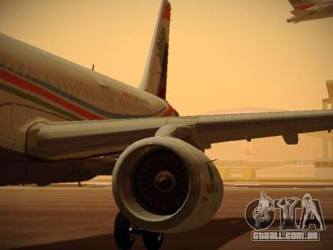 Airbus A321-232 Middle East Airlines para as rodas de GTA San Andreas