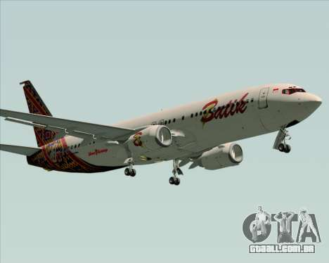 Boeing 737-800 Batik Air para GTA San Andreas esquerda vista