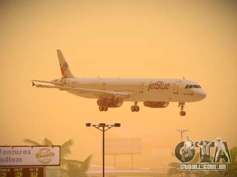 Airbus A321-232 jetBlue I love Blue York para GTA San Andreas vista superior