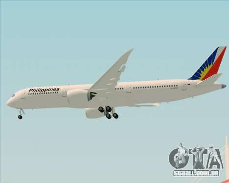 Airbus A350-900 Philippine Airlines para GTA San Andreas vista inferior