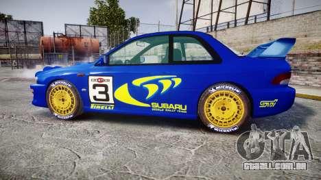 Subaru Impreza WRC 1998 Rally v2.0 Yellow para GTA 4 esquerda vista