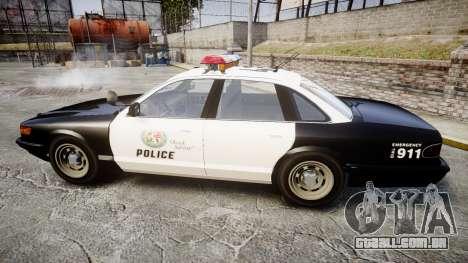 Vapid Police Cruiser MX7000 para GTA 4 esquerda vista