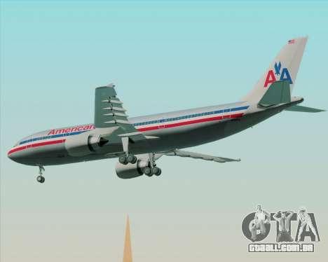 Airbus A300-600 American Airlines para GTA San Andreas vista traseira