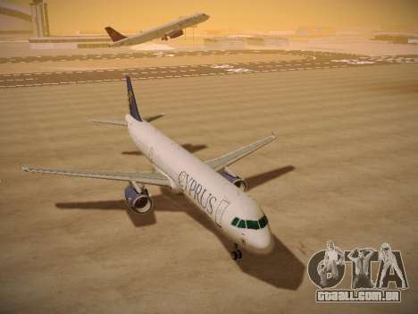 Airbus A321-232 Cyprus Airways para GTA San Andreas vista traseira