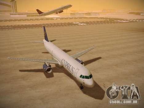 Airbus A321-232 Cyprus Airways para GTA San Andreas vista traseira