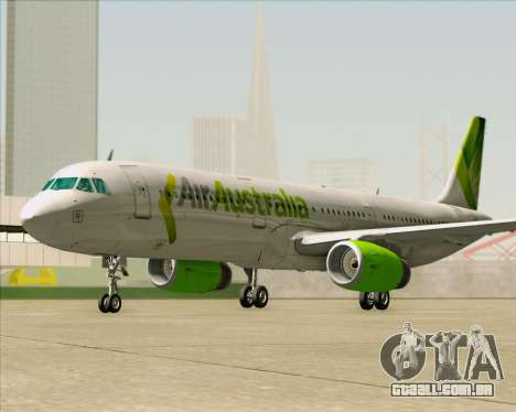 Airbus A321-200 Air Australia para GTA San Andreas vista inferior
