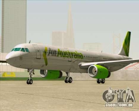 Airbus A321-200 Air Australia para GTA San Andreas vista inferior