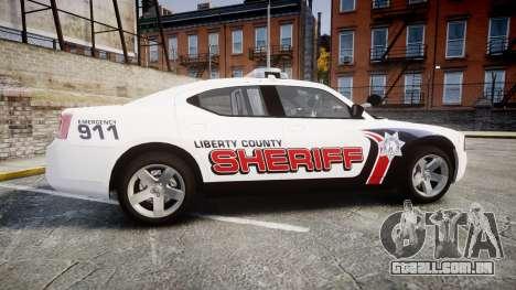 Dodge Charger 2010 LC Sheriff [ELS] para GTA 4 esquerda vista