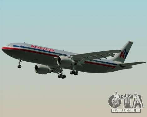 Airbus A300-600 American Airlines para vista lateral GTA San Andreas