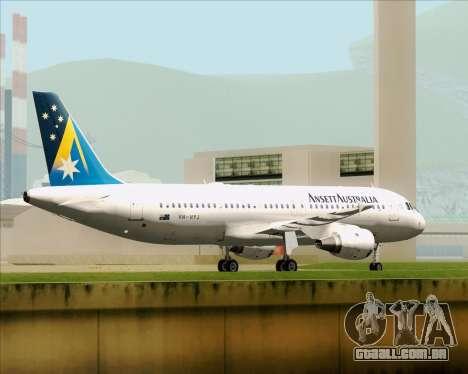 Airbus A320-200 Ansett Australia para GTA San Andreas vista inferior