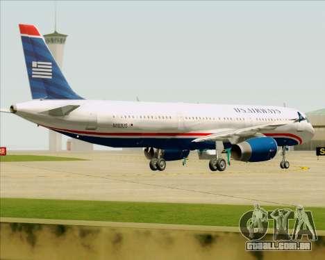 Airbus A321-200 US Airways para GTA San Andreas vista inferior
