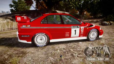 Mitsubishi Lancer Evolution VI Rally Marlboro para GTA 4 esquerda vista