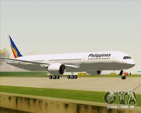 Airbus A350-900 Philippine Airlines para vista lateral GTA San Andreas