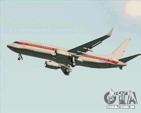 Boeing 737-800 EG&G - Janet para GTA San Andreas traseira esquerda vista
