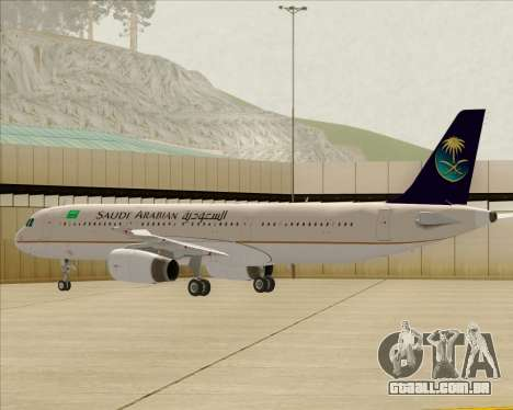 Airbus A321-200 Saudi Arabian Airlines para as rodas de GTA San Andreas