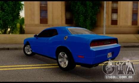 Dodge Challenger SXT Plus 2013 para GTA San Andreas esquerda vista