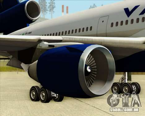 McDonnell Douglas DC-10-30 VARIG para as rodas de GTA San Andreas