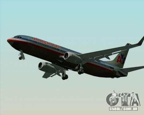 Boeing 737-800 American Airlines para GTA San Andreas vista interior