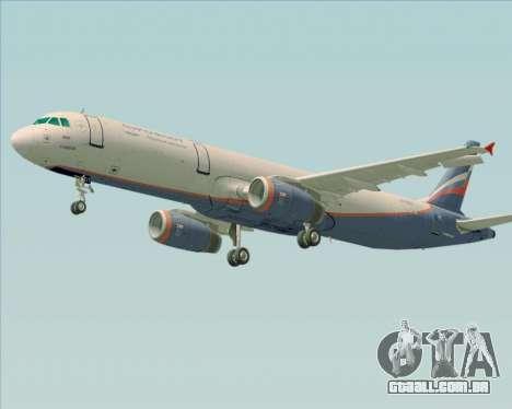Airbus A321-200 Aeroflot - Russian Airlines para GTA San Andreas vista inferior