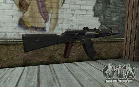 Moderno, AKS-74U para GTA San Andreas segunda tela
