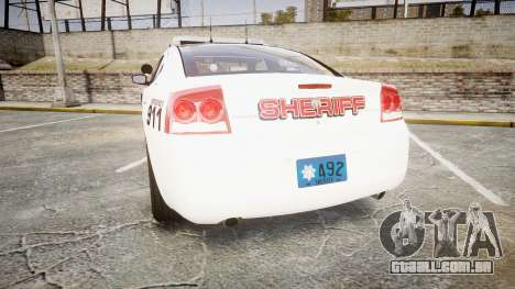 Dodge Charger 2010 LC Sheriff [ELS] para GTA 4 traseira esquerda vista