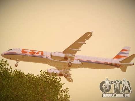Airbus A321-232 Czech Airlines para GTA San Andreas vista direita