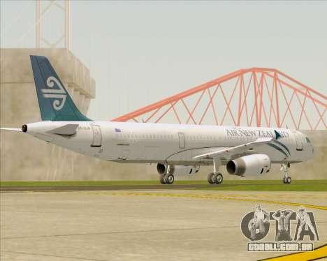 Airbus A321-200 Air New Zealand para GTA San Andreas vista superior