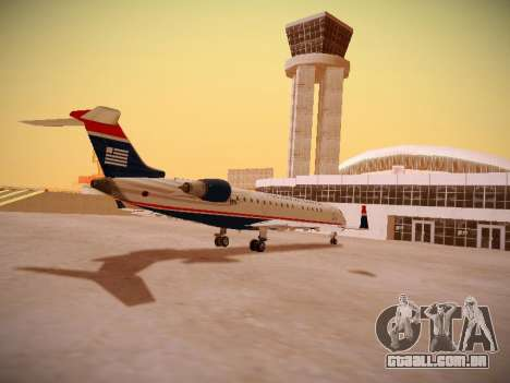 Bombardier CRJ-700 US Airways Express para GTA San Andreas vista direita