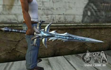 Sword from World Of Warcraft-Frostmourne para GTA San Andreas terceira tela