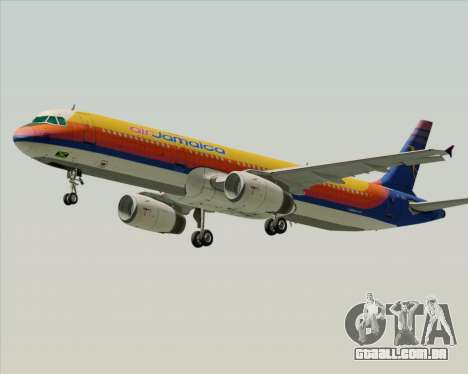 Airbus A321-200 Air Jamaica para GTA San Andreas vista interior
