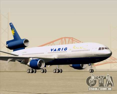 McDonnell Douglas DC-10-30 VARIG para GTA San Andreas vista interior