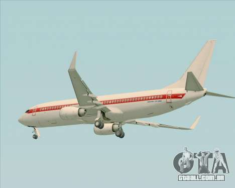 Boeing 737-800 EG&G - Janet para GTA San Andreas vista direita