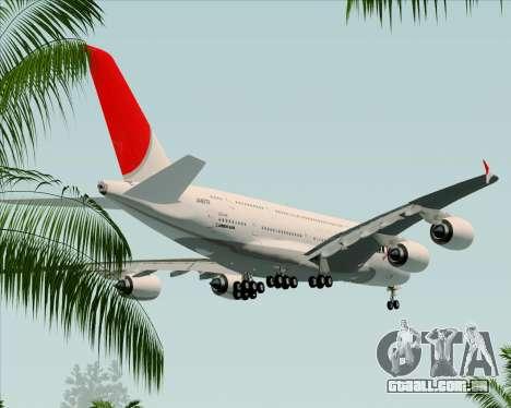 Airbus A380-800 Japan Airlines (JAL) para GTA San Andreas vista superior