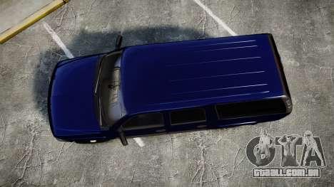 Chevrolet Suburban Undercover 2003 Grey Rims para GTA 4 vista direita
